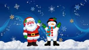 Santa and Frosty Jigsaw Puzzle