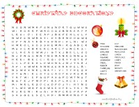 Christmas Decorations Word Search